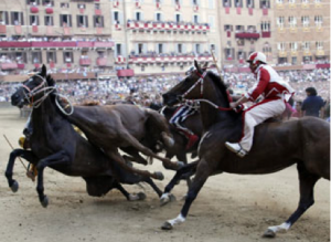 incidenti al Palio di Siena